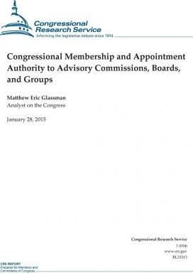 Congressional Membership and Appointment Authority to Advisory Commissions, Boards, and Groups