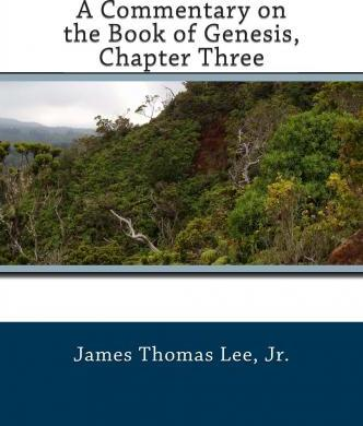 A Commentary on the Book of Genesis, Chapter Three