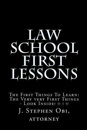 Law School First Lessons