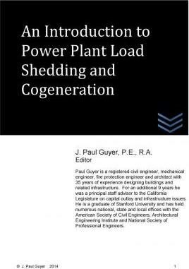 An Introduction to Power Plant Load Shedding and Cogeneration