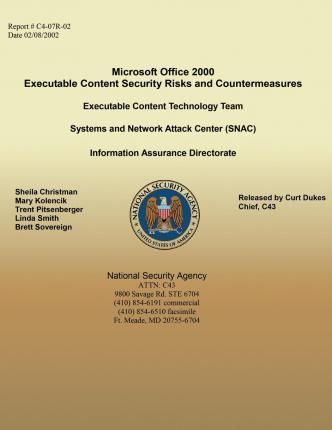 Microsoft Office 2000 Executable Content Security Risks and Countermeasures