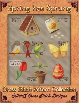 Spring Has Sprung Cross Stitch Pattern Collection
