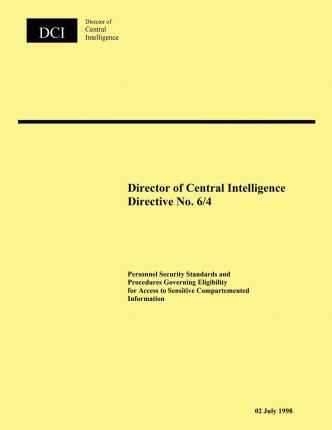 Director of Central Intelligence Directive No. 6/4