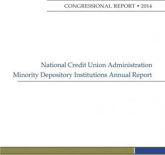 National Credit Union Administration Minority Depository Institutions Annual Report