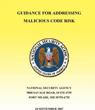 Guidance for Addressing Malicious Code Risk
