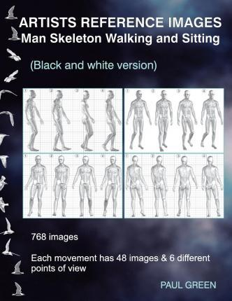 Artists Reference Images - Man Skeleton Walking and Sitting