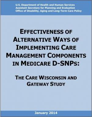 Effectiveness of Alternative Ways of Implementing Care Management Components in Medicare D-Snps