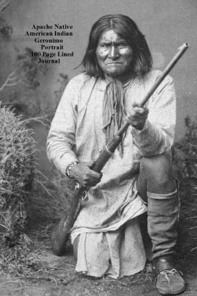 Apache Native American Indian Geronimo Portrait 100 Page Lined Journal