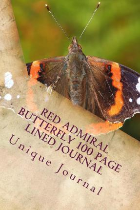 Red Admiral Butterfly 100 Page Lined Journal
