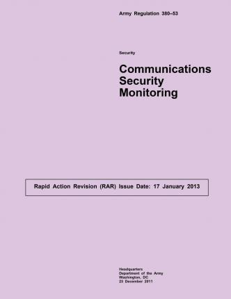 Army Regulation 380-53 Security Communications Security Monitoring