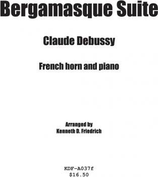 Bergamasque Suite - Horn and Piano