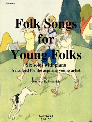 Folk Songs for Young Folks - Trombone and Piano