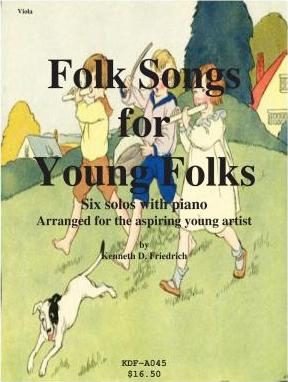 Folk Songs for Young Folks - Viola and Piano
