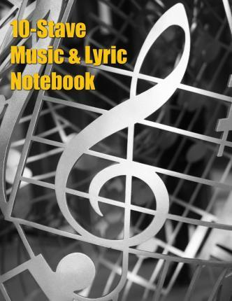 10-Stave Music & Lyric Notebook - Silver Treble Clef