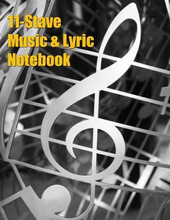 11-Stave Music & Lyric Notebook - Silver Treble Clef