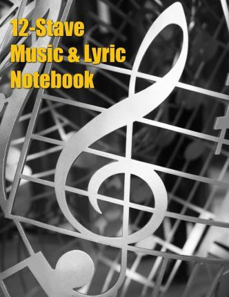 12-Stave Music & Lyric Notebook - Silver Treble Clef