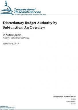 Discretionary Budget Authority by Subfunction