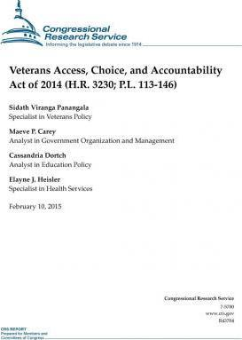 Veterans Access, Choice, and Accountability Act of 2014 (H.R. 3230; P.L. 113-146)