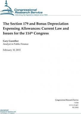 The Section 179 and Bonus Depreciation Expensing Allowances