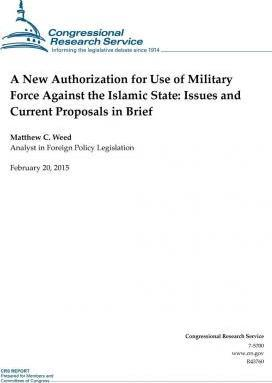 A New Authorization for Use of Military Force Against the Islamic State