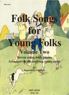 Folk Songs for Young Folks, Vol. 2 - Horn and Piano