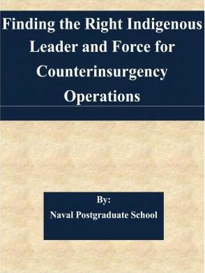 Finding the Right Indigenous Leader and Force for Counterinsurgency Operations