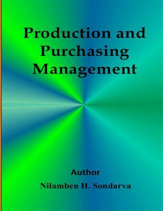 Producation and Purchasing Management