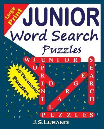 Large Print Junior Word Search Puzzles