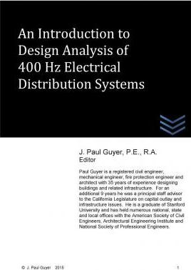 An Introduction to Design Analysis of 400 Hz Electrical Distribution Systems