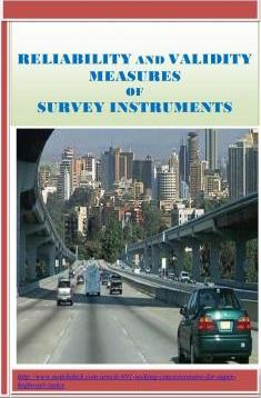 Reliability and Validity Measures of Survey Instruments