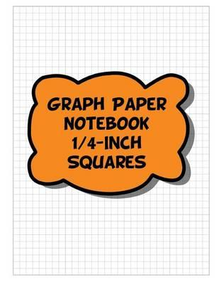 Graph Paper Notebook - 1/4-Inch Squares, 4 Squares Per Inch Grid-Lined Pages - Orange