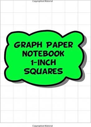 Graph Paper Notebook - 1-Inch Squares, 1 Square Per Inch Grid-Lined Pages - Green