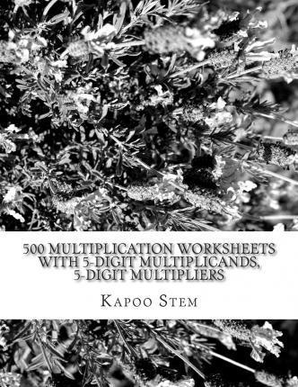 500 Multiplication Worksheets with 5-Digit Multiplicands, 5-Digit Multipliers: Math Practice Workbook