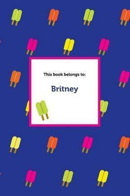 Etchbooks Britney, Popsicle, College Rule