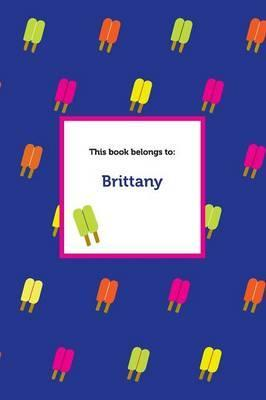 Etchbooks Brittany, Popsicle, Wide Rule