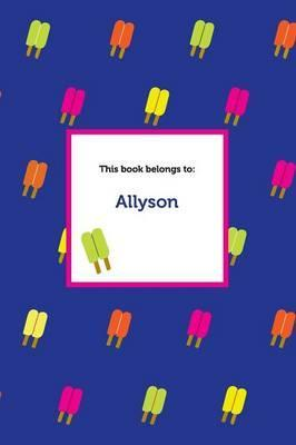 Etchbooks Allyson, Popsicle, Wide Rule