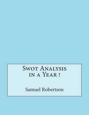 Swot Analysis in a Year !