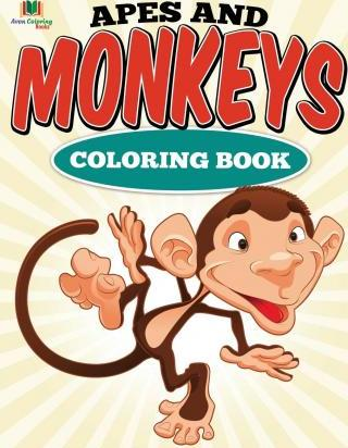 Apes and Monkeys Coloring Book