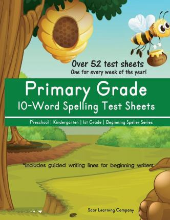 Primary Grade 10-Word Spelling Test Sheets