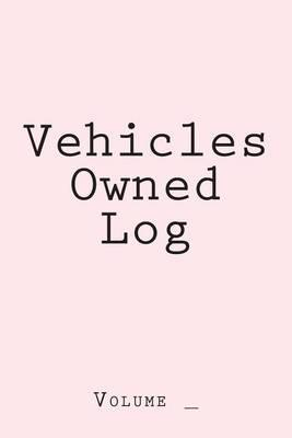 Vehicles Owned Log  Pink Cover