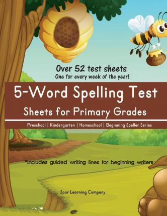 5-Word Spelling Test Sheets for Primary Grades