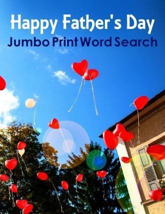 Happy Father's Day Jumbo Print Word Search