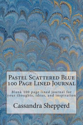Pastel Scattered Blue 100 Page Lined Journal