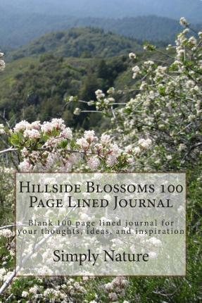 Hillside Blossoms 100 Page Lined Journal