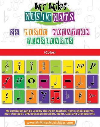 24 Music Notation Flashcards (Color)