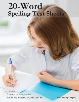 20-Word Spelling Test Sheets