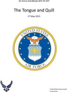 Air Force Handbook Afh 33-337 the Tongue and Quill 27 May 2015