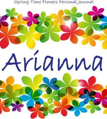 Spring Time Flowers Personal Journal - Arianna