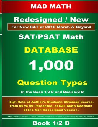 Redesigned SAT/PSAT Math Database Book 1/2