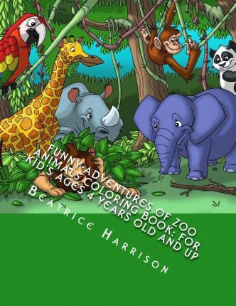 Funny Adventures of Zoo Animals Coloring Book
